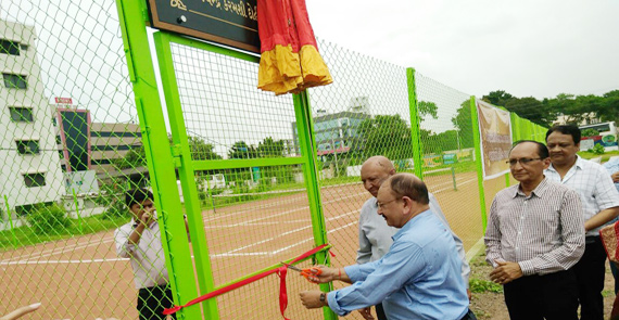 Tennis Court opening Ceremony held on 6th Aug 2017